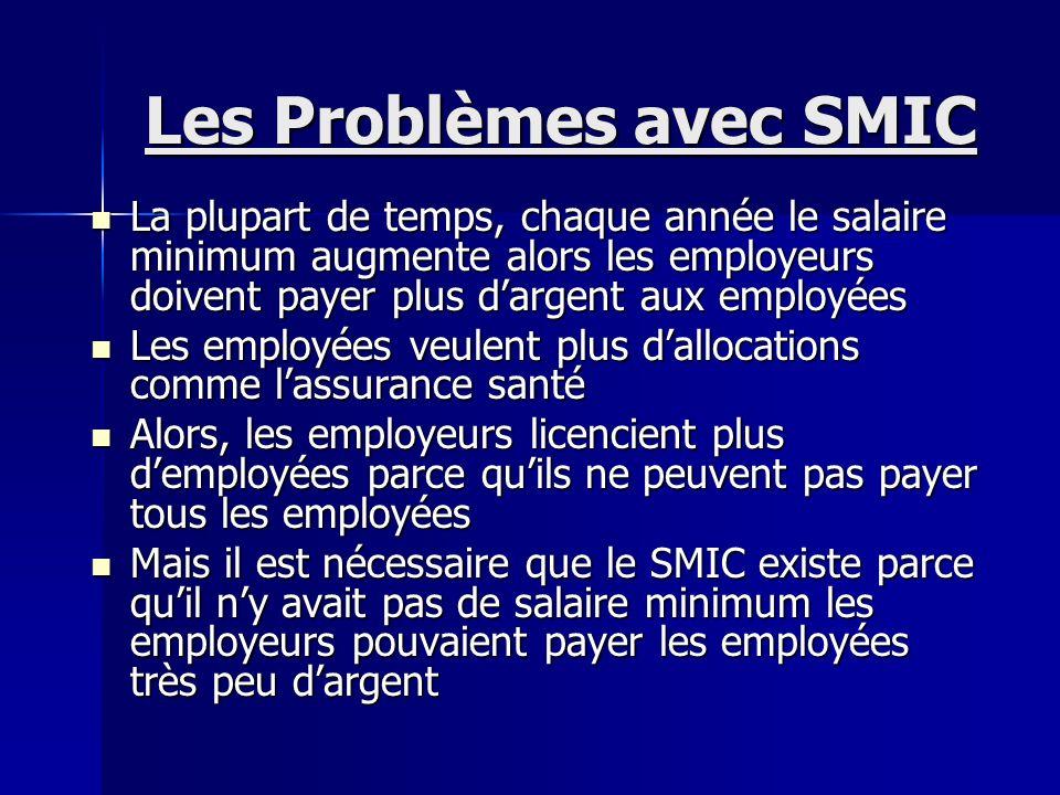 Les Problèmes avec SMIC