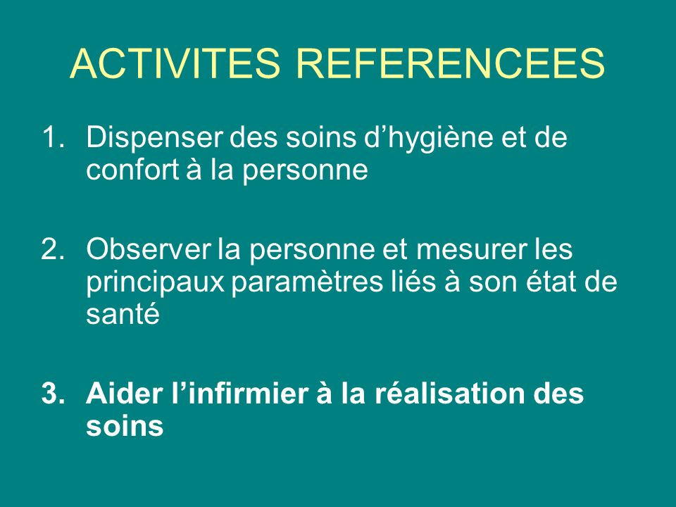 ACTIVITES REFERENCEES