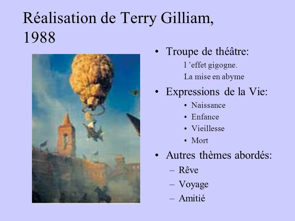 Réalisation de Terry Gilliam, 1988
