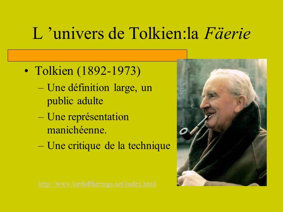 L 'univers de Tolkien:la Fäerie