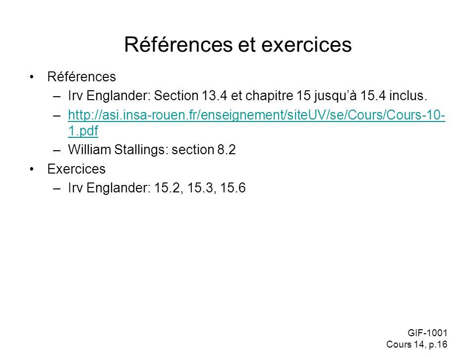 Références et exercices