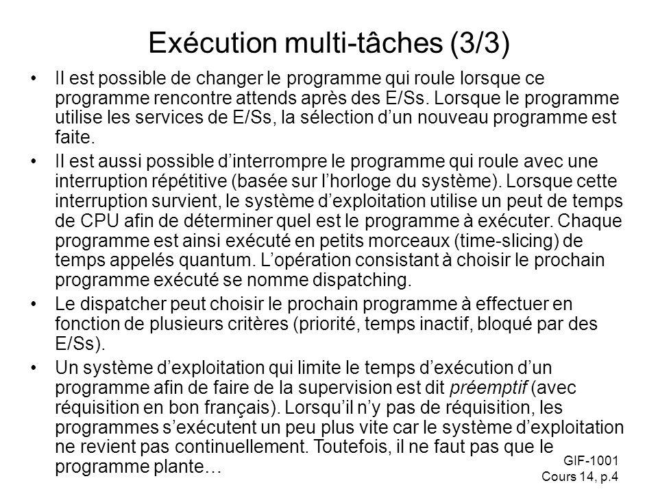 Exécution multi-tâches (3/3)