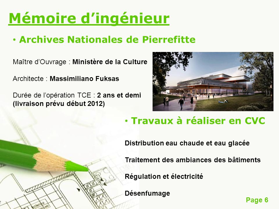 Mémoire d'ingénieur Archives Nationales de Pierrefitte