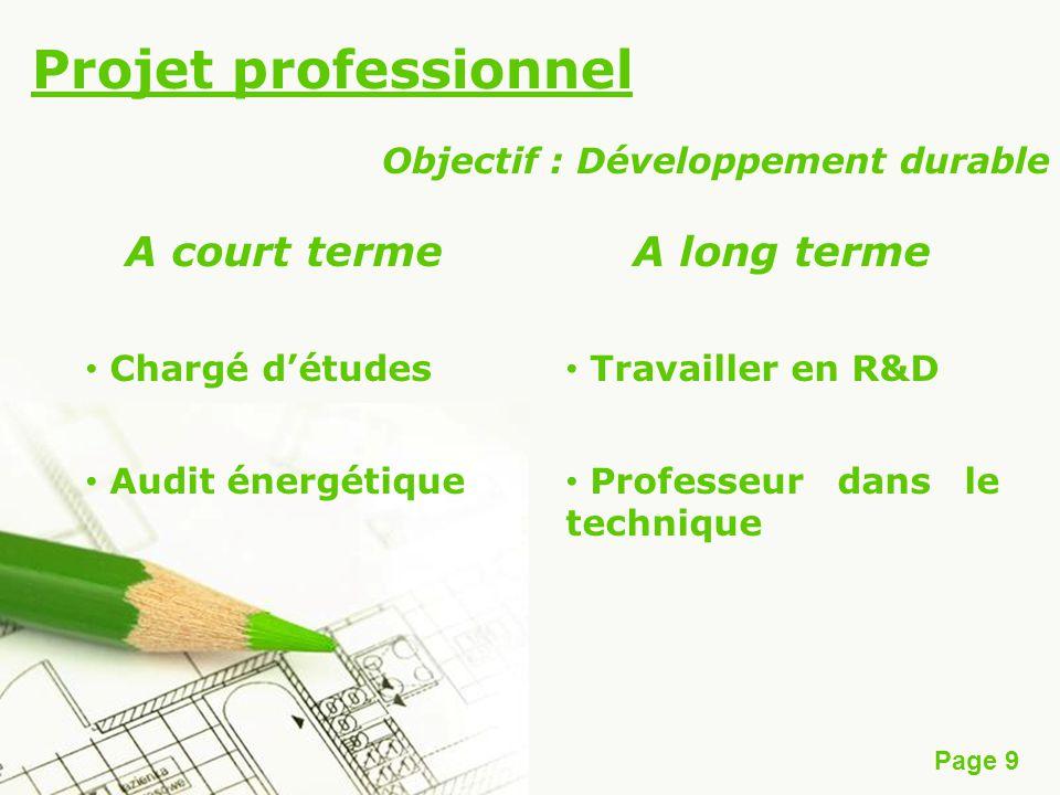 Objectif : Développement durable