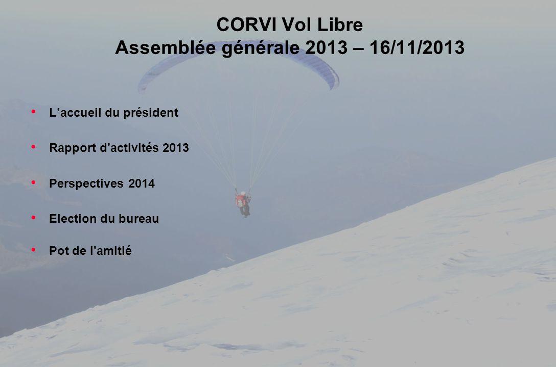 CORVI Vol Libre Assemblée générale 2013 – 16/11/2013