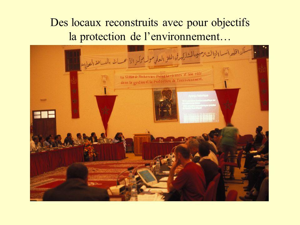 Des locaux reconstruits avec pour objectifs la protection de l'environnement…