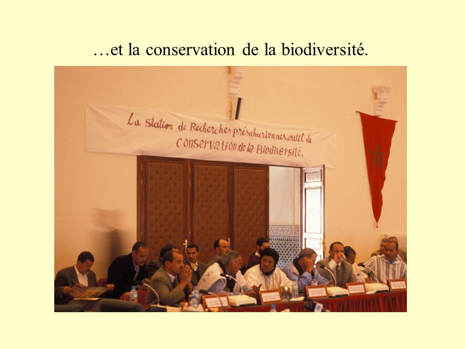 …et la conservation de la biodiversité.