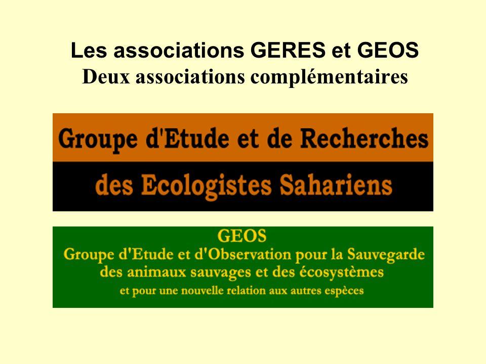 Les associations GERES et GEOS Deux associations complémentaires