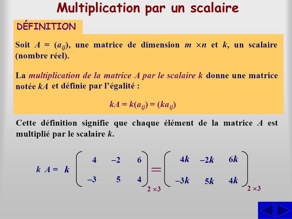 Multiplication par un scalaire