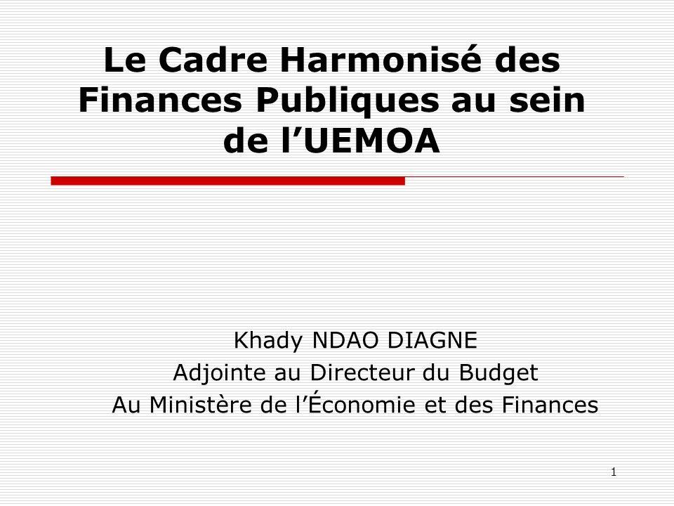 Le Cadre Harmonisé des Finances Publiques au sein de l'UEMOA