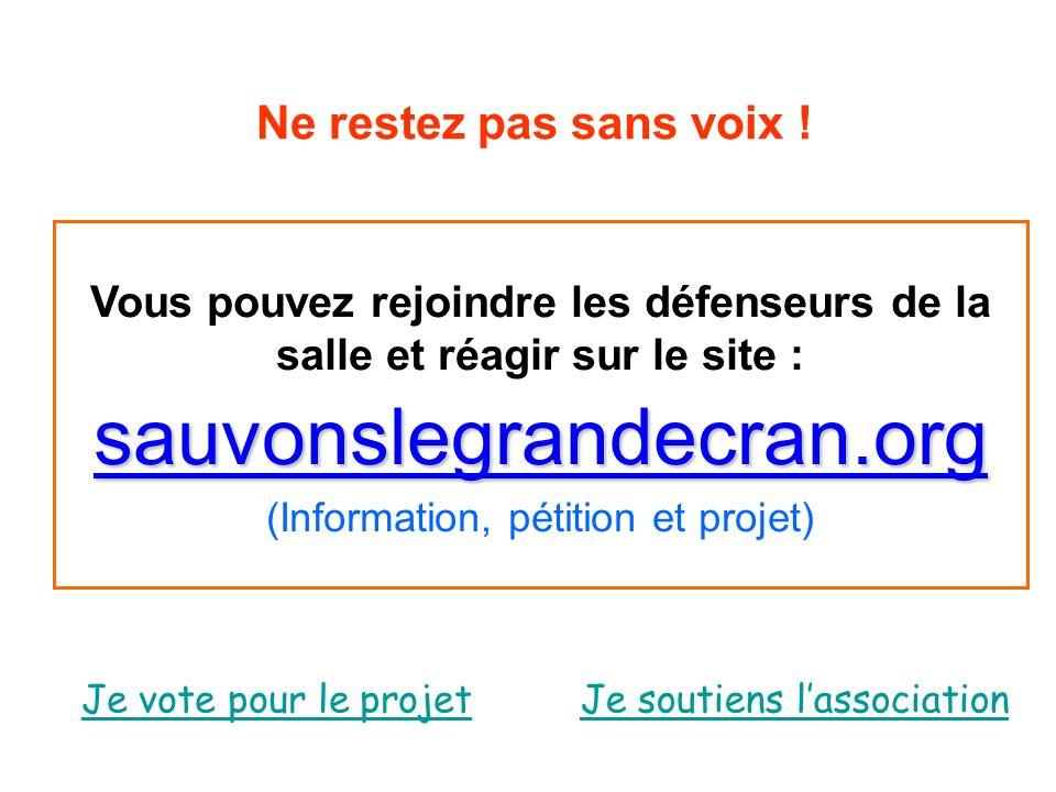 (Information, pétition et projet)