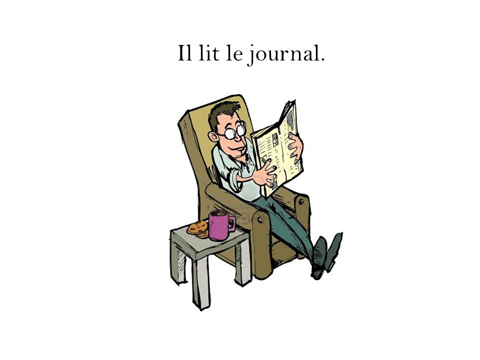 Il lit le journal.