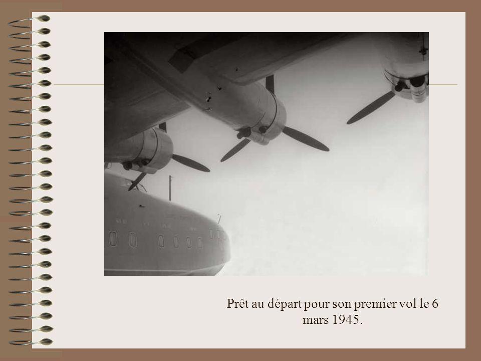 Prêt au départ pour son premier vol le 6 mars 1945.