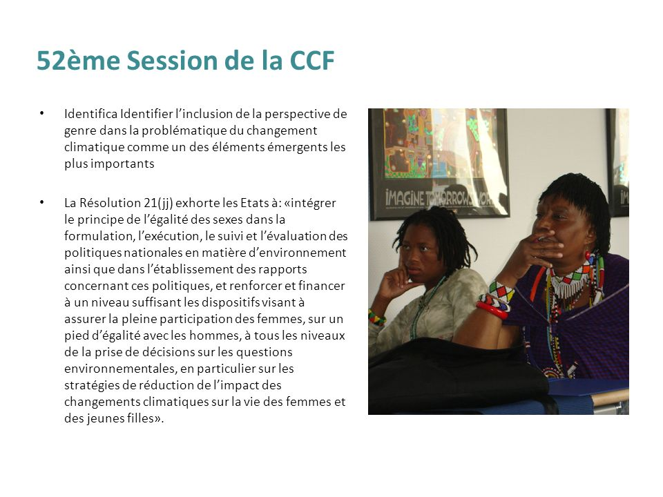 52ème Session de la CCF