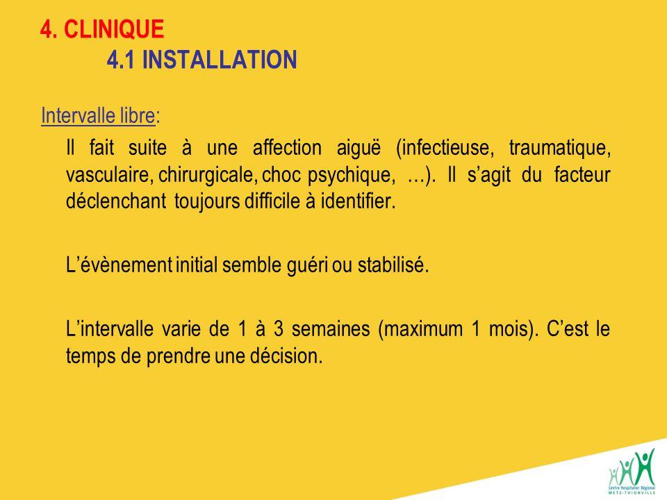 4. CLINIQUE 4.1 INSTALLATION