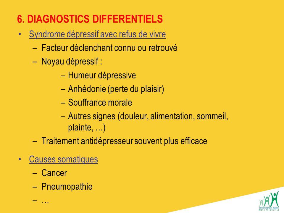 6. DIAGNOSTICS DIFFERENTIELS