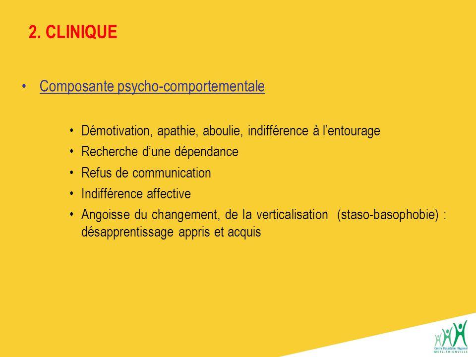 2. CLINIQUE Composante psycho-comportementale