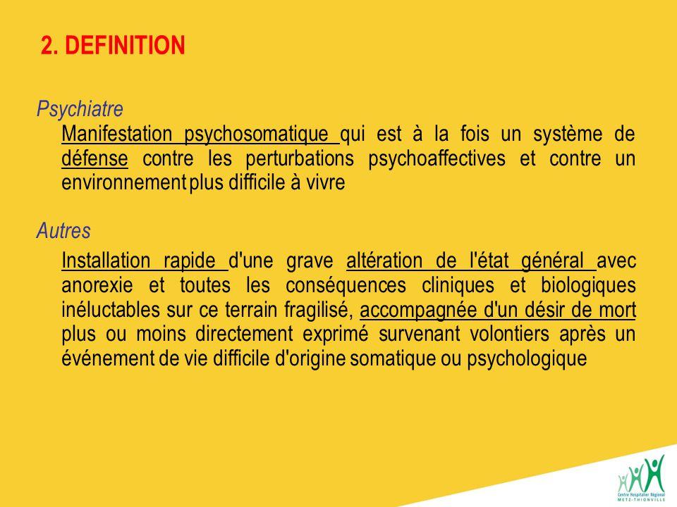 2. DEFINITION Psychiatre