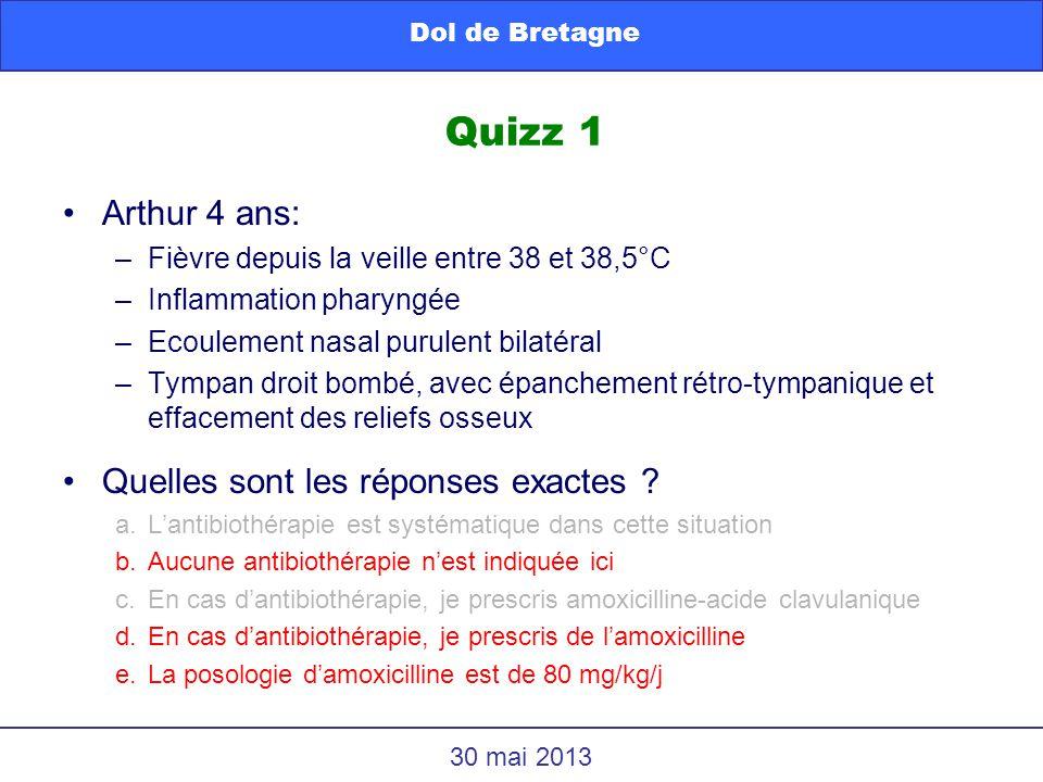 Quizz 1 Arthur 4 ans: Quelles sont les réponses exactes