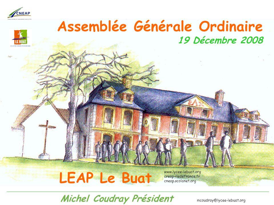 Assemblée Générale Ordinaire 19 Décembre 2008