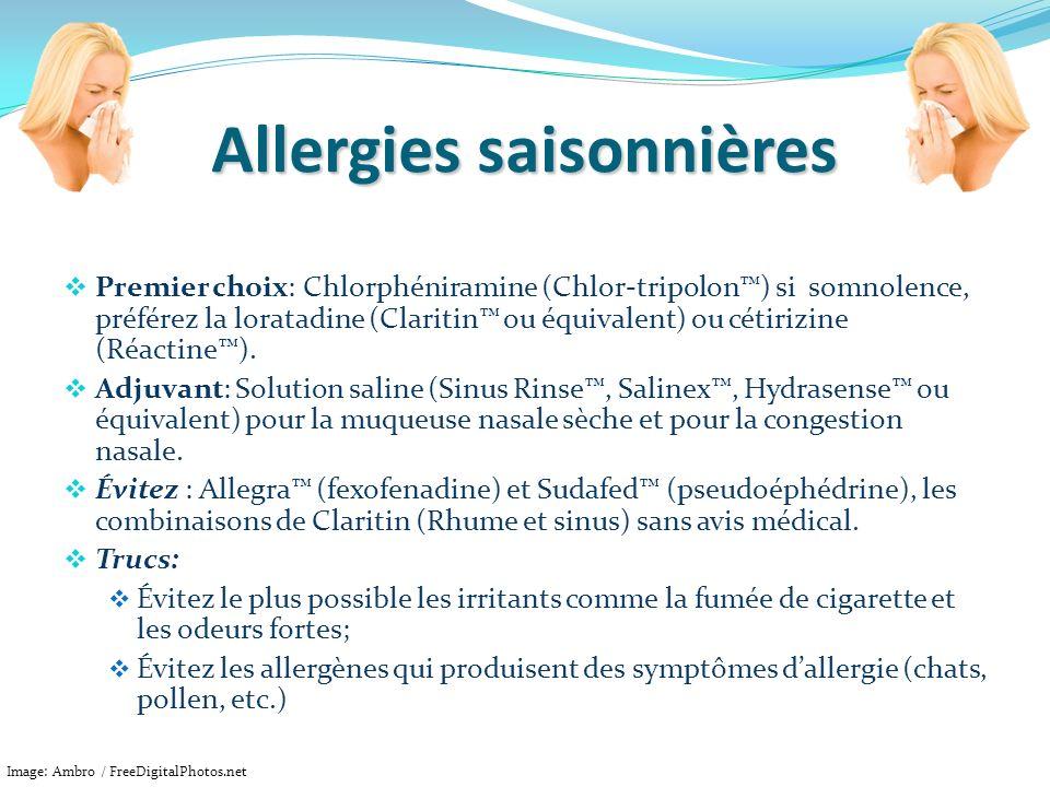 Allergies saisonnières