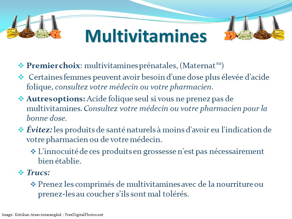 Multivitamines Premier choix: multivitamines prénatales, (Maternat™)