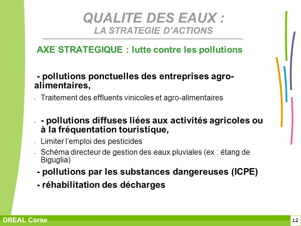 QUALITE DES EAUX : LA STRATEGIE D'ACTIONS
