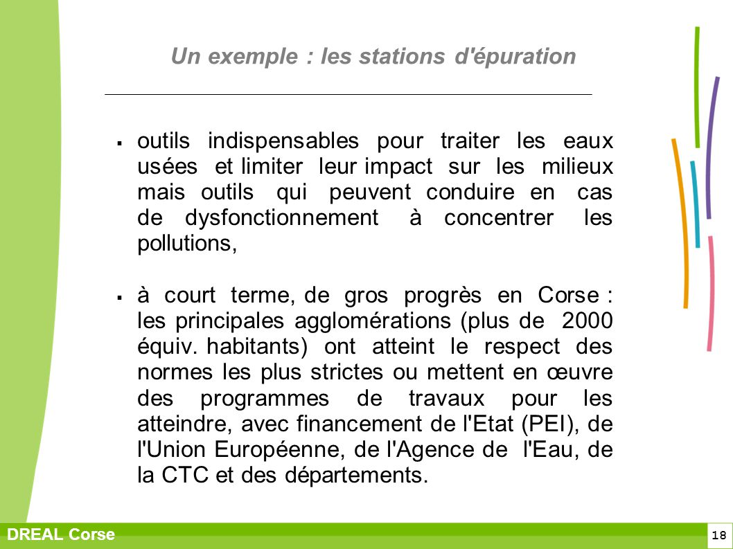 Un exemple : les stations d épuration