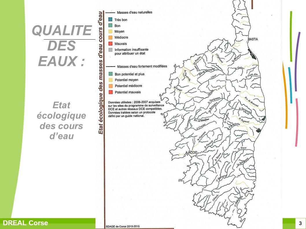 QUALITE DES EAUX : Etat écologique des cours d'eau