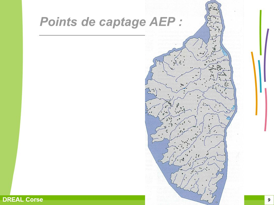 Points de captage AEP :