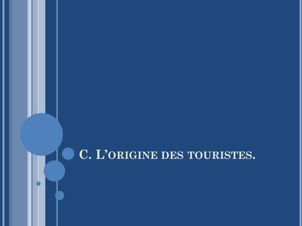 C. L'origine des touristes.