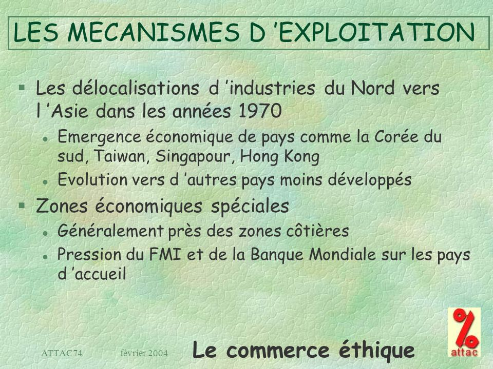 LES MECANISMES D 'EXPLOITATION