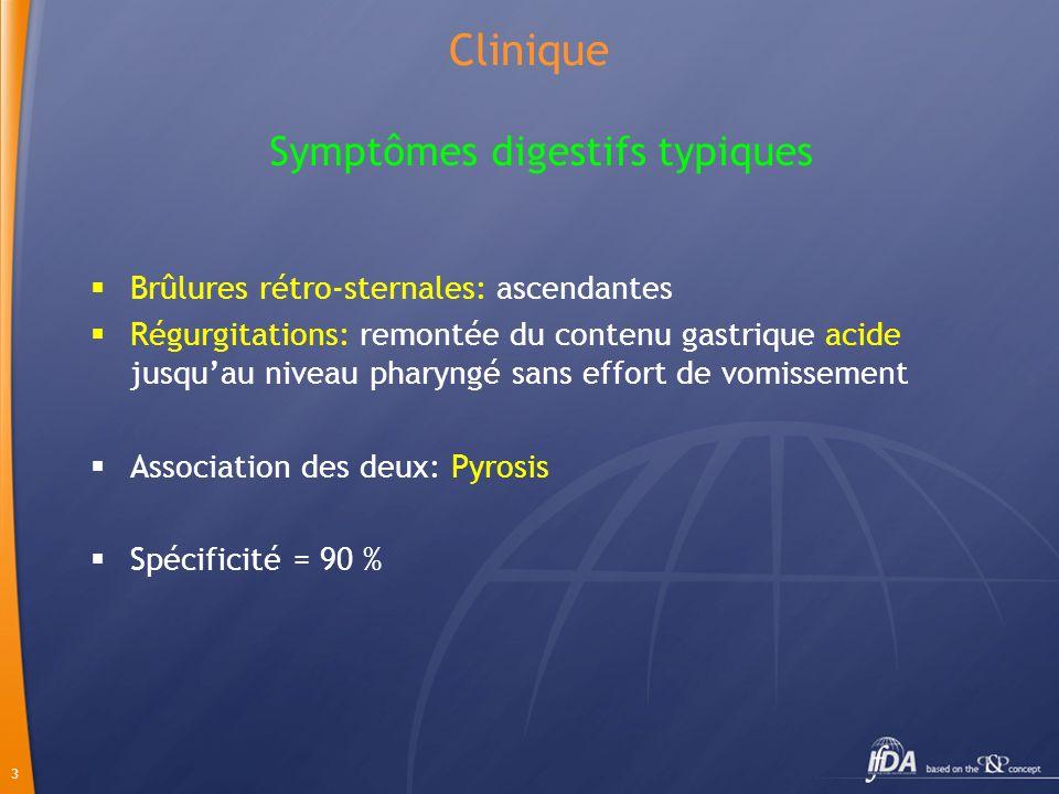 Symptômes digestifs typiques