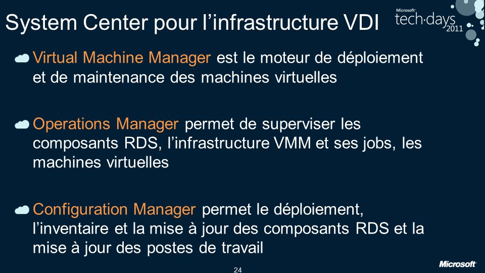 System Center pour l'infrastructure VDI