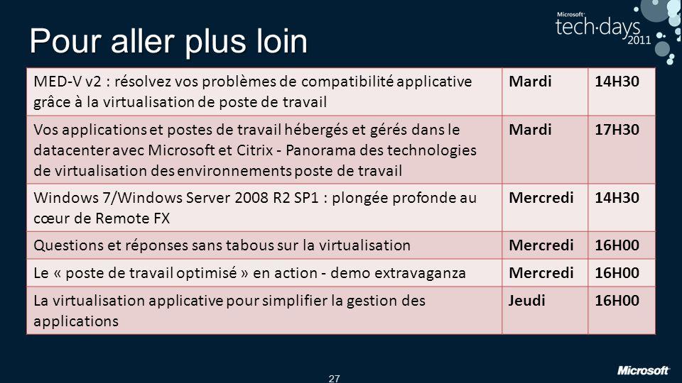 Pour aller plus loin MED-V v2 : résolvez vos problèmes de compatibilité applicative grâce à la virtualisation de poste de travail.