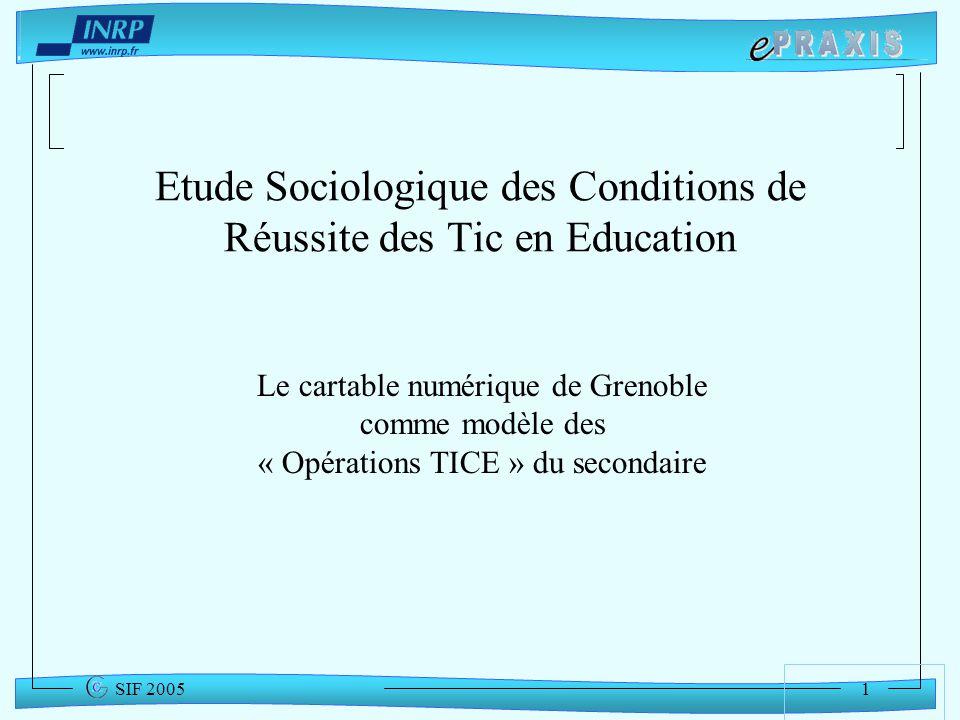 Etude Sociologique des Conditions de Réussite des Tic en Education