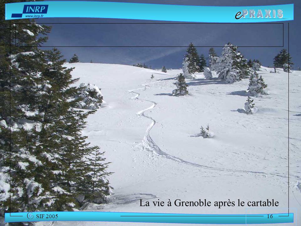 La vie à Grenoble après le cartable
