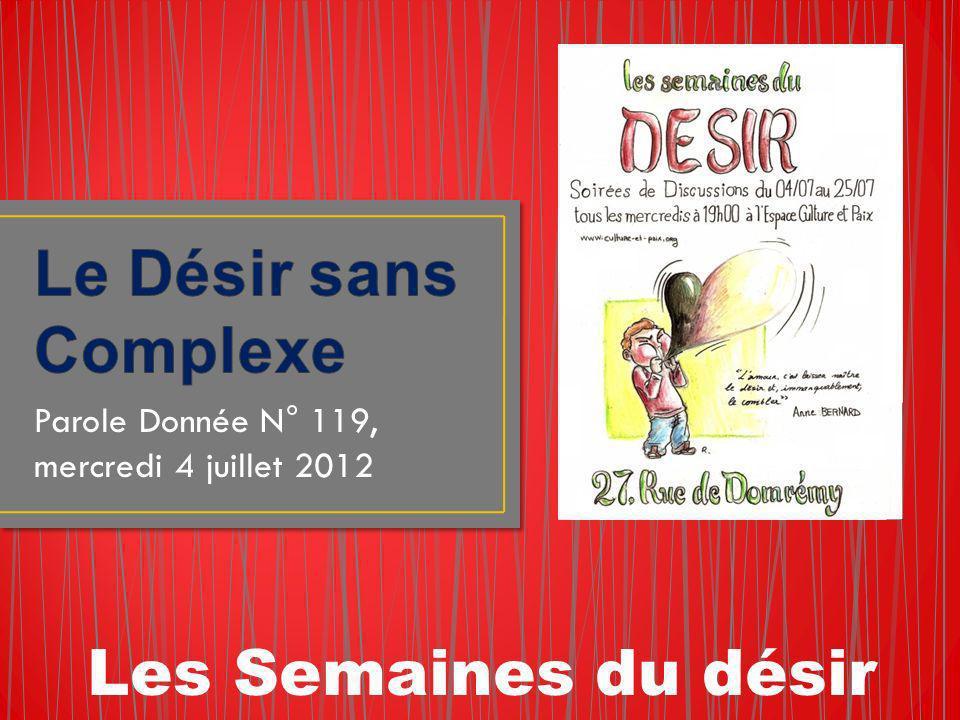Parole Donnée N° 119, mercredi 4 juillet 2012