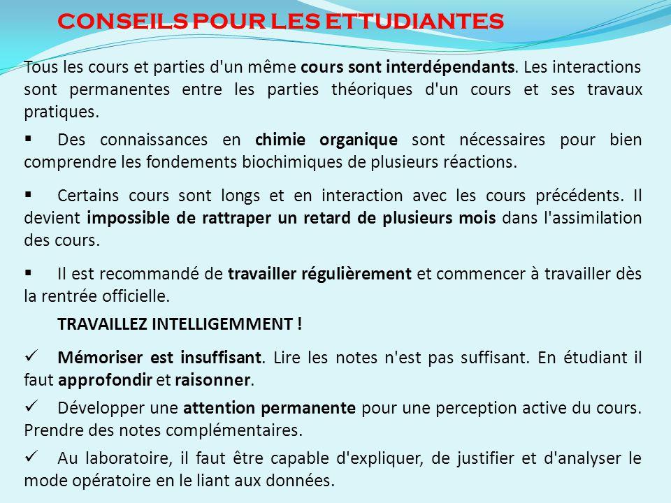 CONSEILS POUR LES ETTUDIANTES