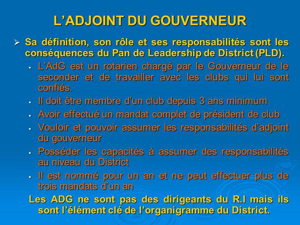 L'ADJOINT DU GOUVERNEUR