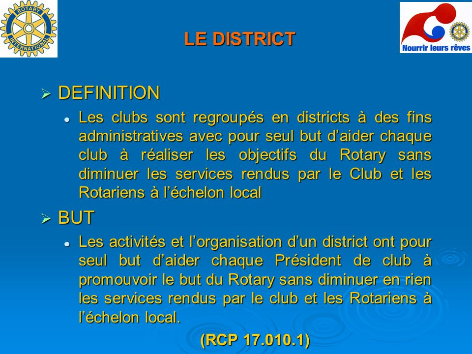 LE DISTRICT DEFINITION BUT
