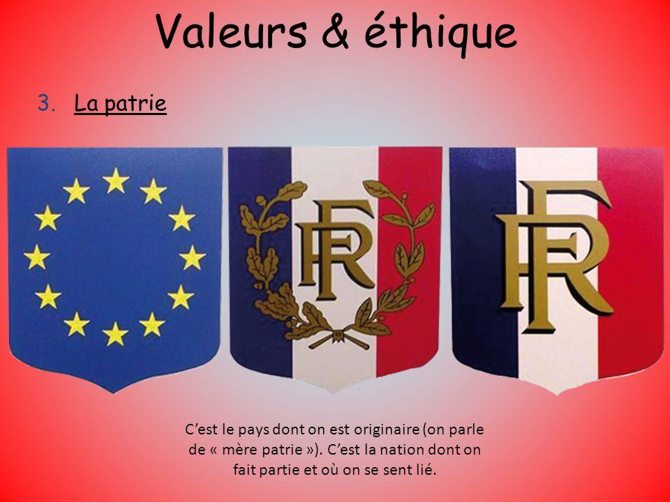 Valeurs & éthique La patrie