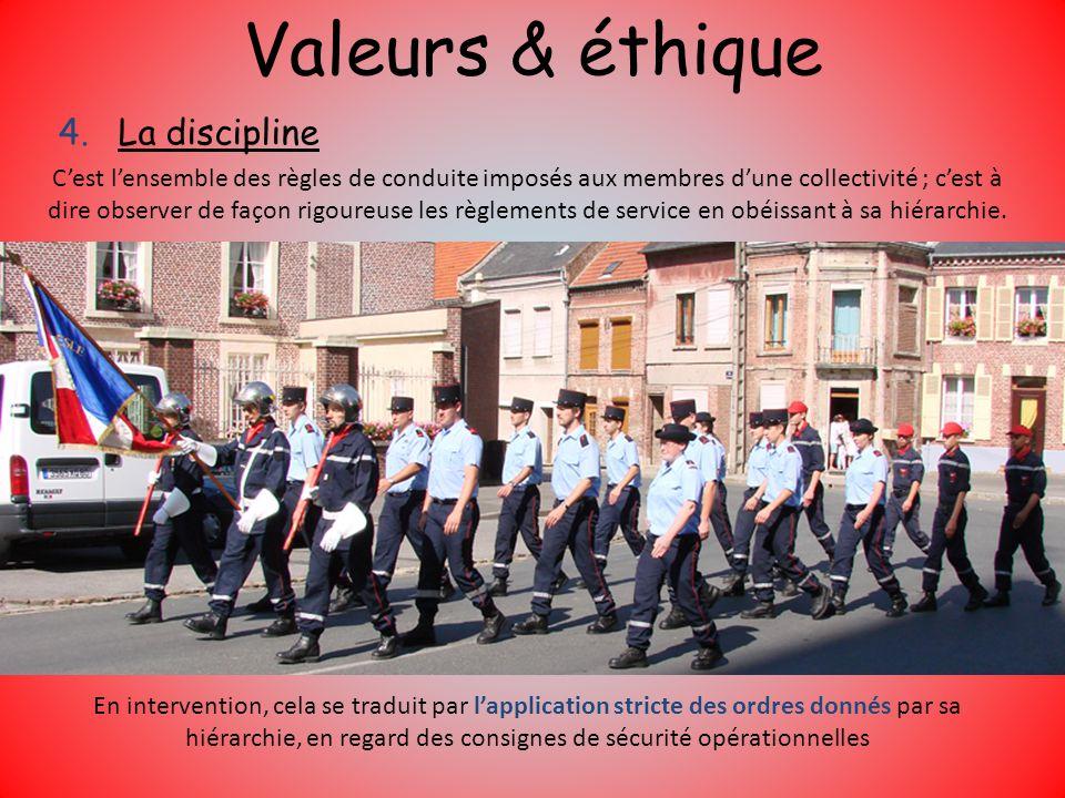 Valeurs & éthique La discipline