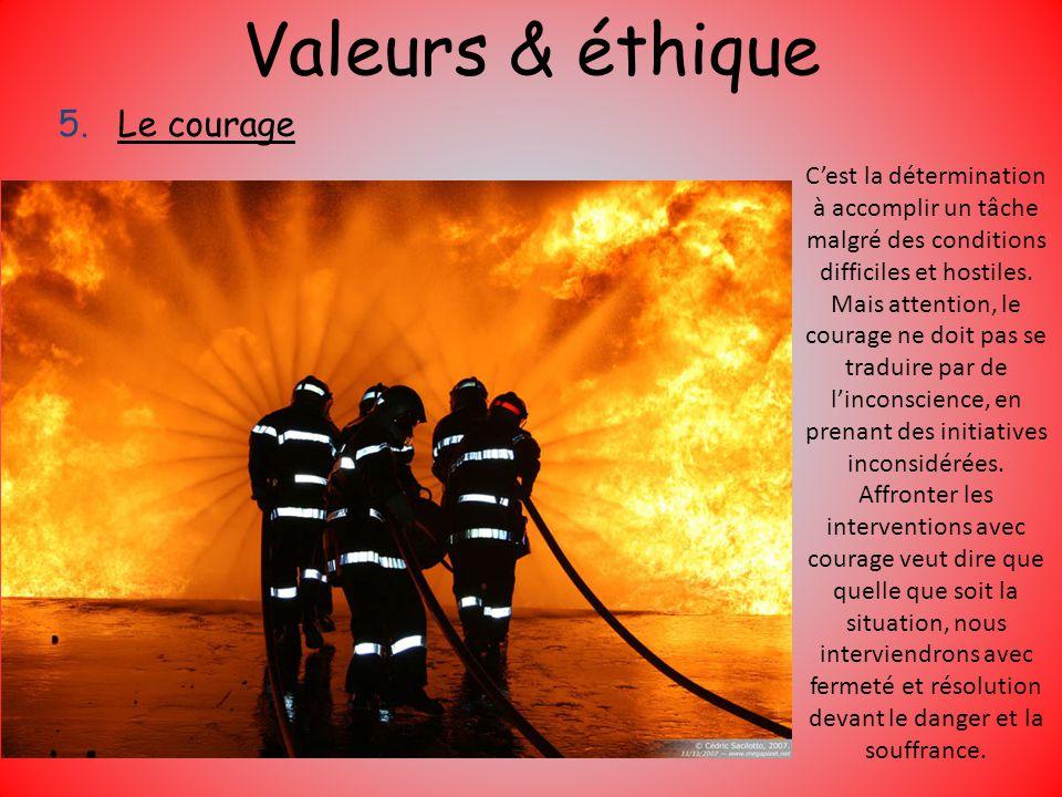 Valeurs & éthique Le courage
