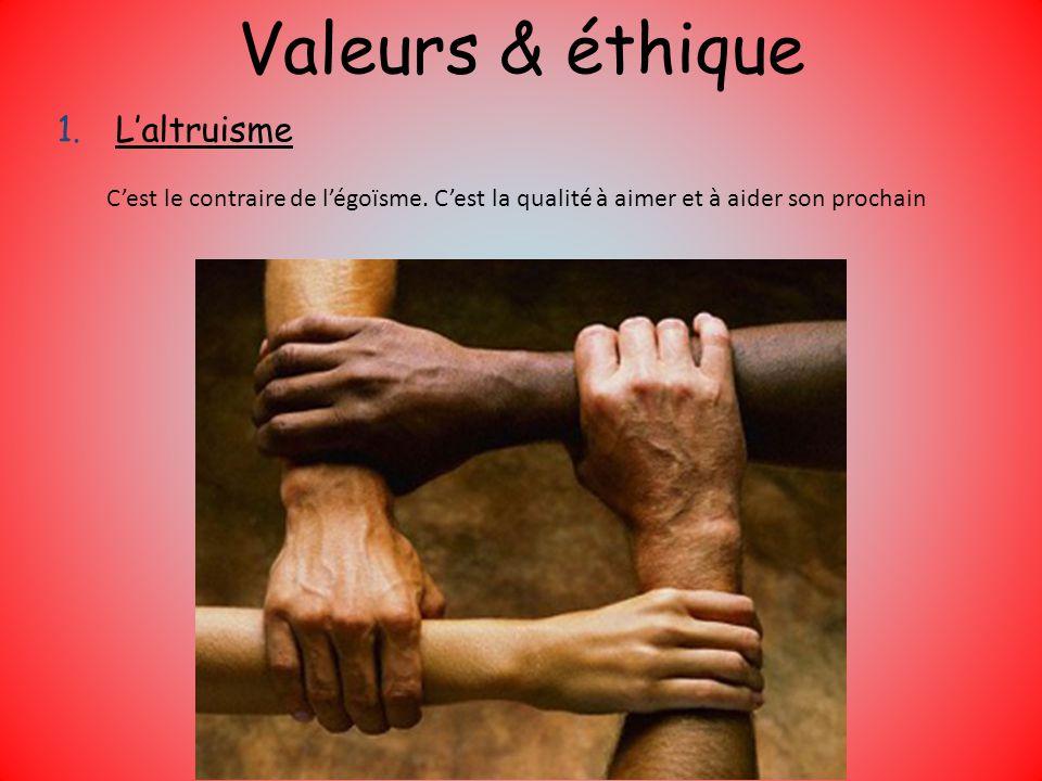Valeurs & éthique L'altruisme