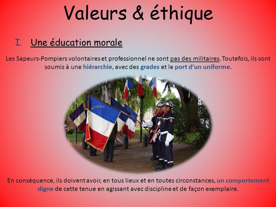 Valeurs & éthique Une éducation morale