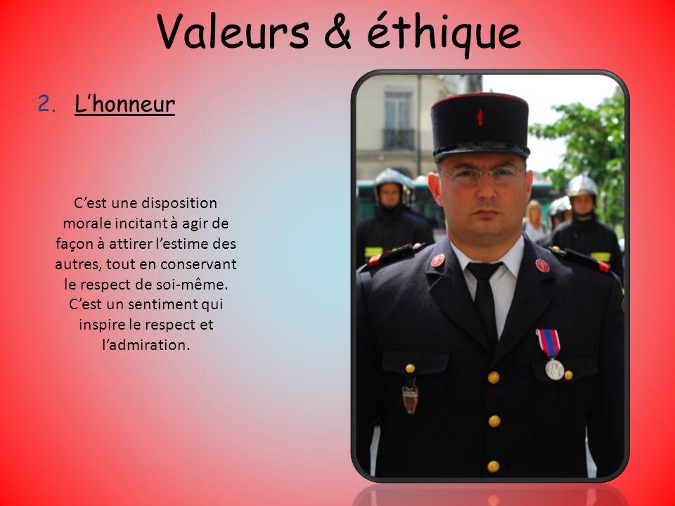 Valeurs & éthique L'honneur