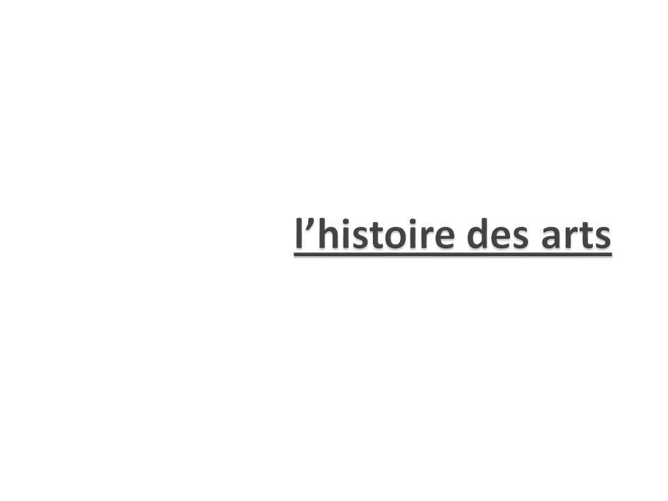 l'histoire des arts