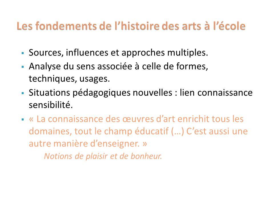 Les fondements de l'histoire des arts à l'école