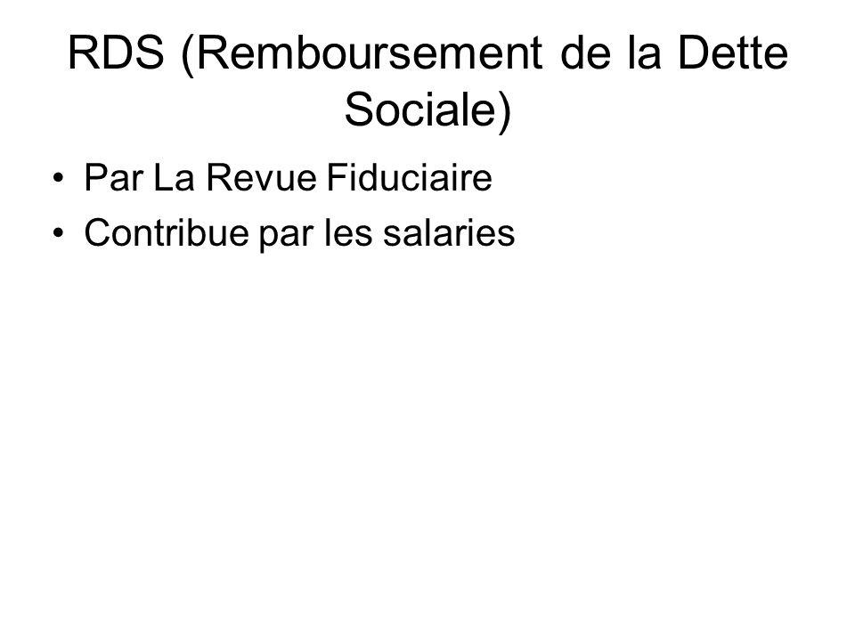 RDS (Remboursement de la Dette Sociale)